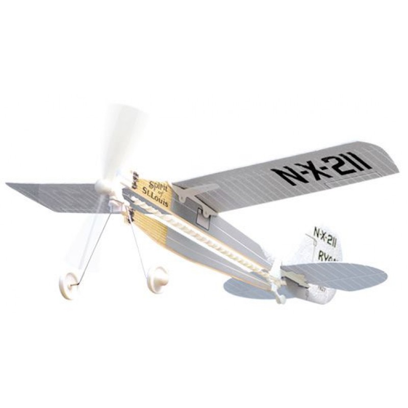 H1 – Spirit of St Louis Rubber Band Powered Plane
