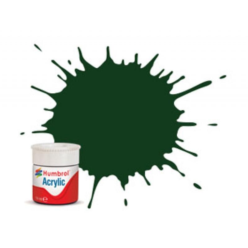 Humbrol 14ml Acrylic #03 (6) Brunswick Green Gloss (+30% extra free)