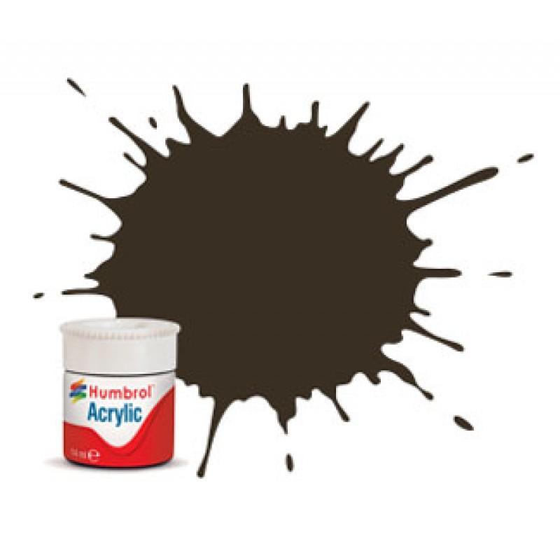 Humbrol 14ml Acrylic #10 (6) Service Brown Gloss (+30% extra free)