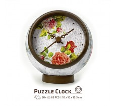 Jigsaw Clock KC1046 Singing Birds and Fragrant Flowers - New