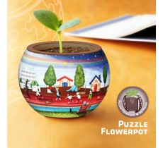 Jigsaw Flowerpot K1001 Red Carpet of Life